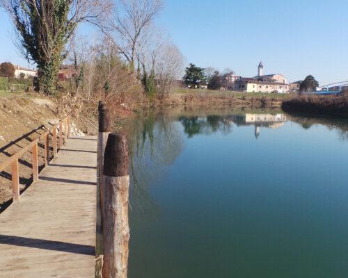 Specchio sul fiume Bacchiglione